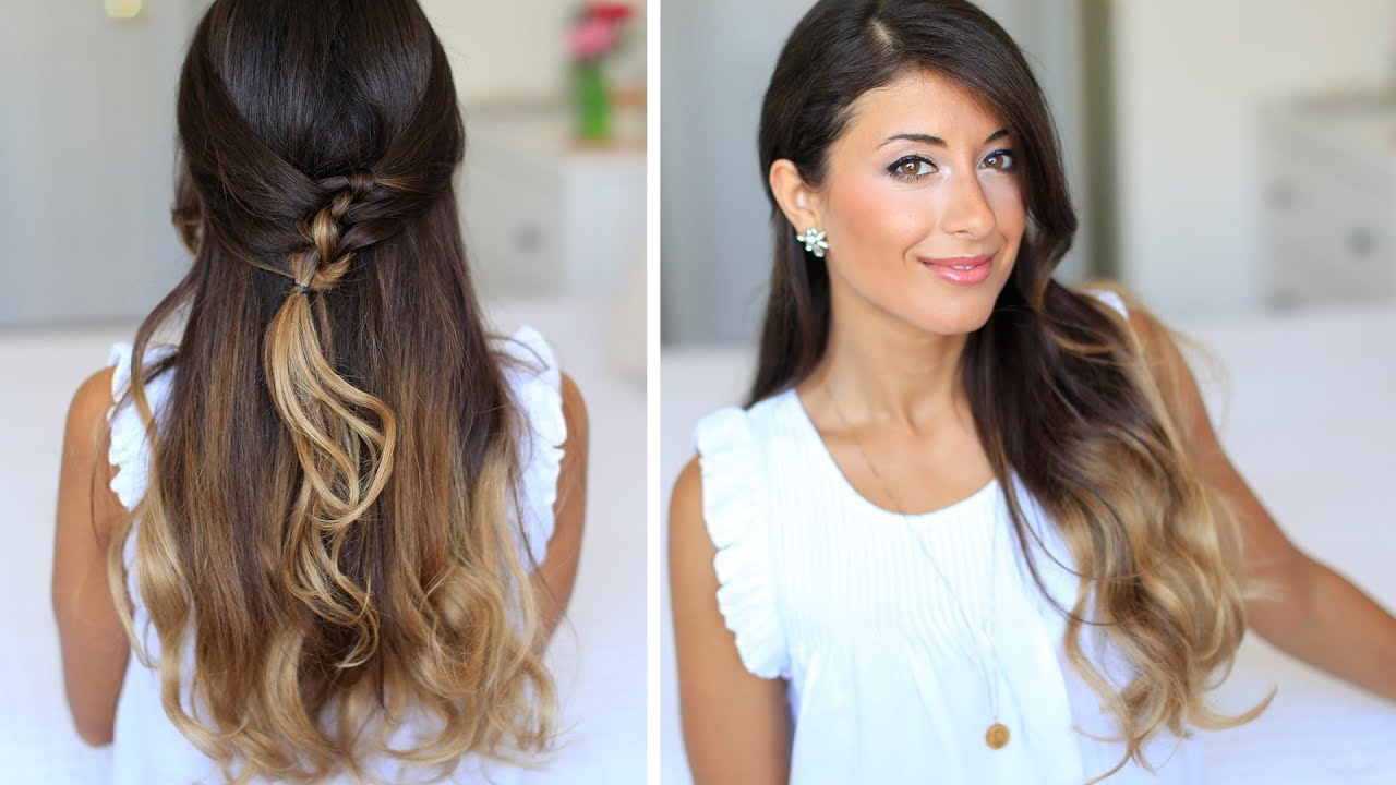 French Knot Half-Do Hairstyle - YouTube