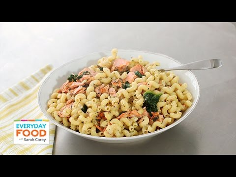 Crusted Salmon Spinach Pasta Recipe Everyday Food With Sarah Carey YouTube