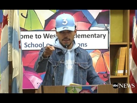 Chance the Rapper Full Press Conference: Donates $1M to Chicago Public Schools | ABC News