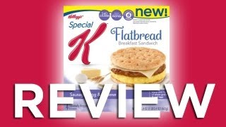 Special K Sausage, Egg  Cheese Flatbread Breakfast Sandwich Video Review: Freezerburns (Ep563)