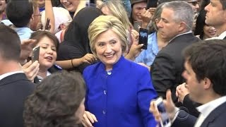 Clinton makes history as first female presumptive nominee