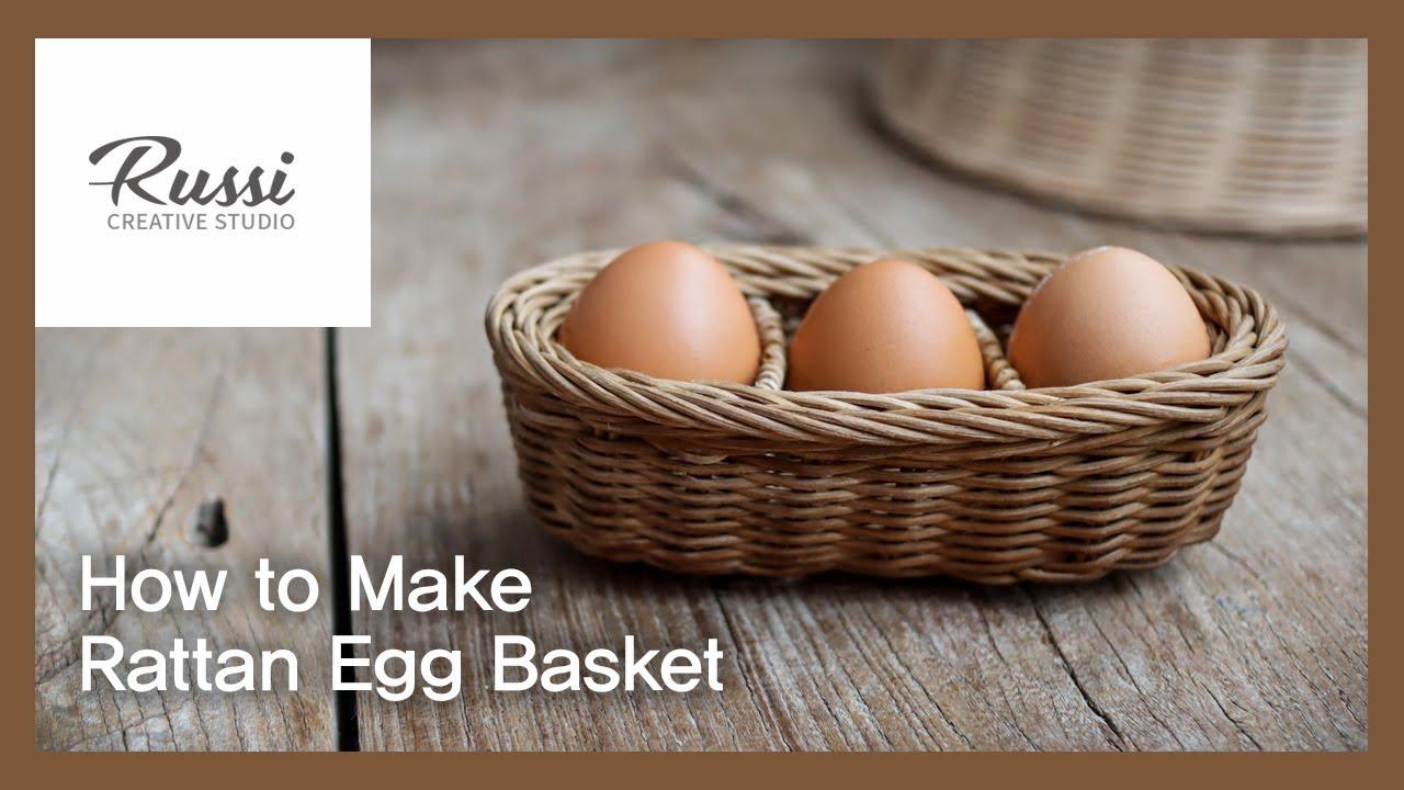 라탄 계란 타원형바구니 만들기 [라탄공예] 취미 수업 온라인클래스67:Rattan Craft : Make rattan Egg Basket, tray, 라탄바구니,칸막이바구니
