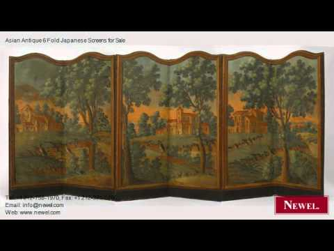 Asian Antique 6 Fold Japanese Screens for Sale