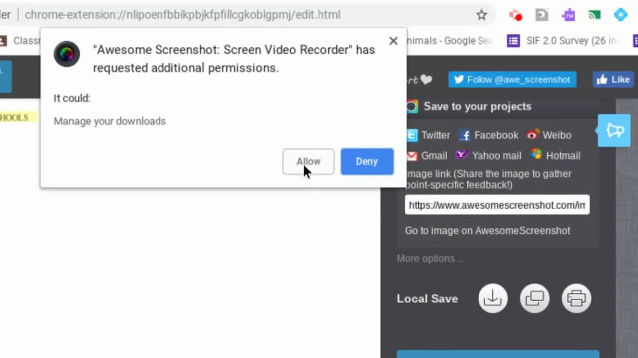 Screenshots on a Chromebook, Part 2: The Awesome Screenshot Extension