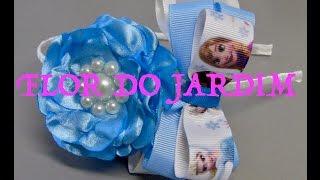 Laço da Ana- Frozen com Flor e fitas – Princess Bow Tie