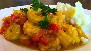 Coconut shrimp curry in a hurry ...