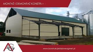 Montaż konstrukcji stalowych budowa hal magazynowych budowa pawilonów Brok Agmet
