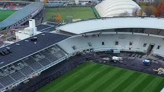 Olympic Stadium Fly-around with drone - Helsinki, Finland. Helsingin Olympiastadion 23.10.2019