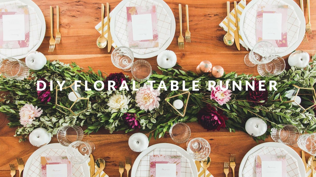 Diy floral table runner youtube diy floral table runner solutioingenieria Gallery