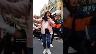 2018.2.18&걷고싶은거리&홍대&공차앞&여성댄스팀&Diana(해미)&by큰별