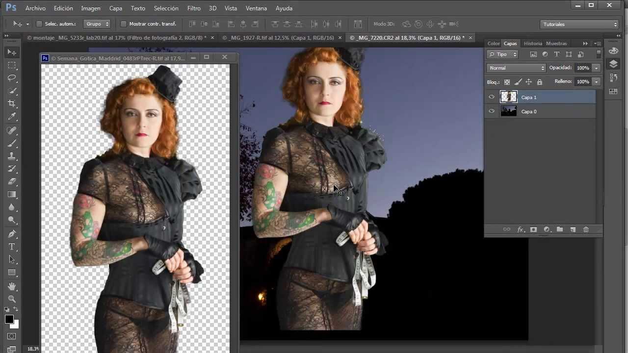 Tutorial Photoshop: Realizar un montaje de fondo.
