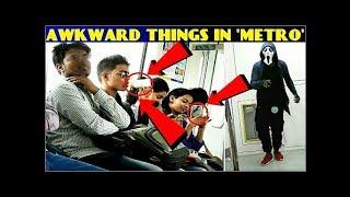 """METRO"" Prank !! awkward train situation!! dance in metro !! 3 jokers team"