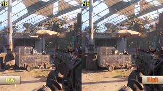Call of Duty: Black Ops 3 Campaign PC High Vs Low Graphics Benchmarks