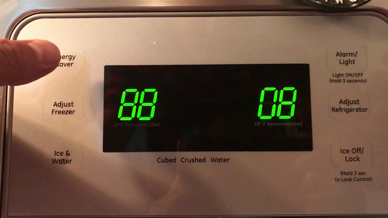 Reset GE Refrigerator display 219Realty com