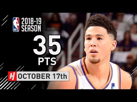 Devin Booker Full Highlights Suns vs Mavericks 2018.10.17 - 35 Points, CRAZY!