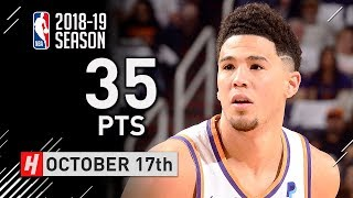 Devin Booker Full Highlights Suns vs Mavericks 2018.10.17 - 35 Points, CRAZY!