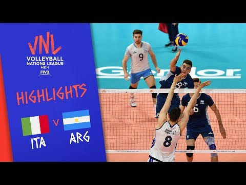 ITALY vs. ARGENTINA - Highlights Men | Week 4 | Volleyball Nations League 2019