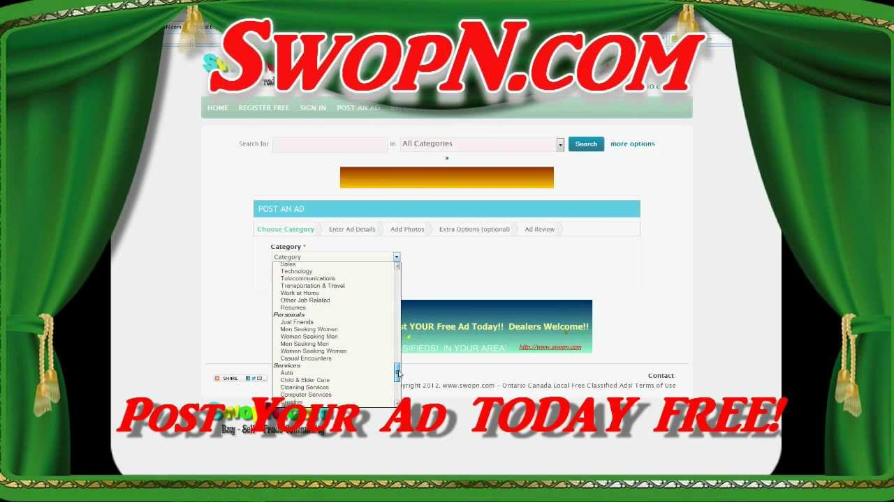 Free Classifieds Ads, Free Classifieds Listings - SwopN Buy, Sell, Trade, MORE!!