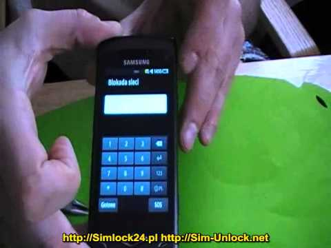 Samsung GT-S8500 wave unlocking enter code