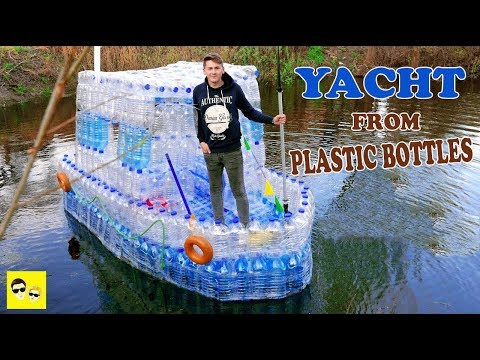 BOAT FROM PLASTIC BOTTLES - DIY