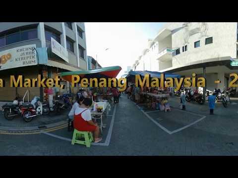 360 Walk: Chowrasta Morning Market, Georgetown, Penang, Malaysia - 25 Feb 2018