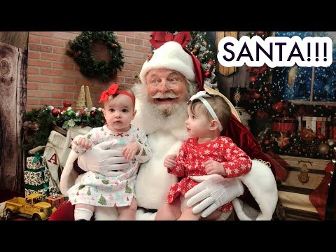 Twin Baby Girls Meet Santa For The First Time! /// McHusbands