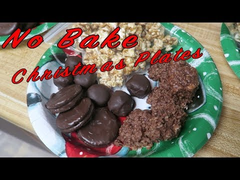 NO BAKE CHRISTMAS PLATES | Easy Christmas Cookies