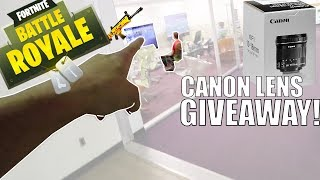 Playing Fortnite in A Library - GIVEAWAY Canon EFS 10-18mm lens - Fortnite Tips - Frankie Vlogs