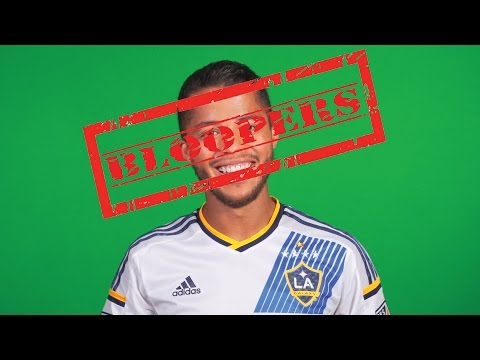 BLOOPERS! LA Galaxy players can't contain their laughter