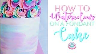 *Bonus* HOW TO WATERCOLOUR ON A FONDANT CAKE | Abbyliciousz The Cake Boutique