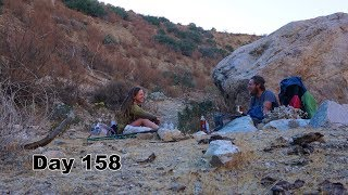 158 PCT - A Break in a Teepee, An Oasis in the Desert
