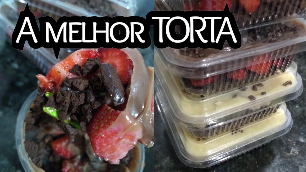 Torta de chocolate com morango / ninho com uva e base Oreo 😮