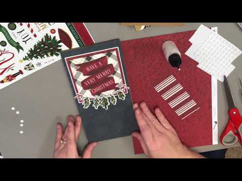 Christmas Jot Photo Journal Mini Album Made With One 12 x 12 Paper Pack