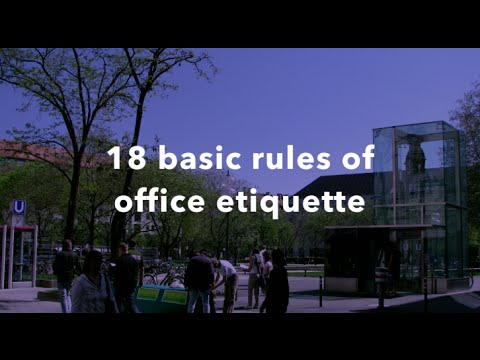 18 basic rules and tips of office etiquette