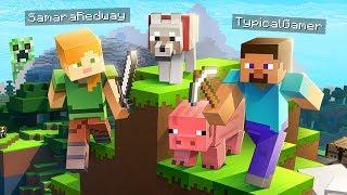 CREEPER, AW MAN!! MINECRAFT w/ MY GIRLFRIEND! (Minecraft #1)
