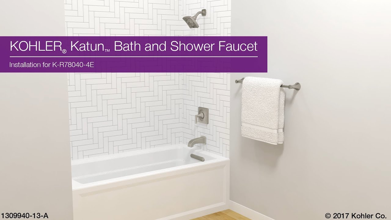Installation - Katun Bath and Shower Faucet - YouTube