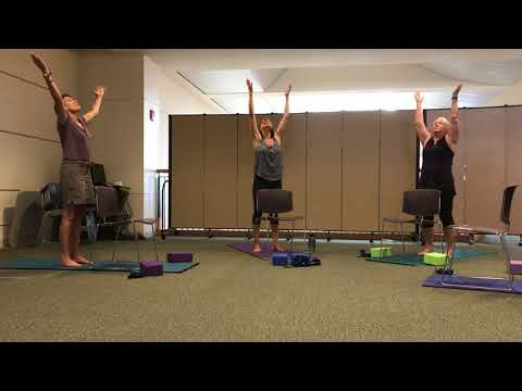 Chair-Assisted Balance Yoga (standing)
