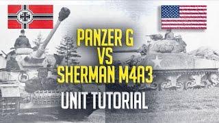 Units - Sherman M4A3 vs Panzer G