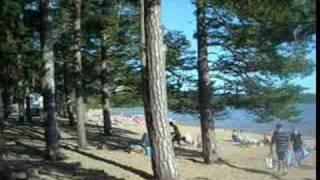 Vackert strand Tivedsbadet 65 km ute Örebro