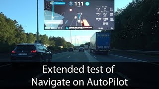 Extended test of Navigate on AutoPilot - Testing the Tesla
