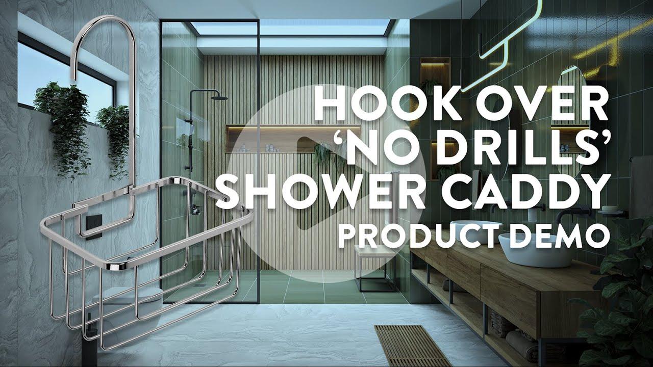 Shower Riser Hook Over Caddy