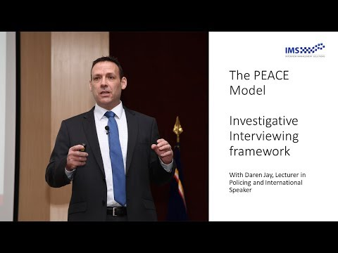 PEACE Model of Investigative Interviewing