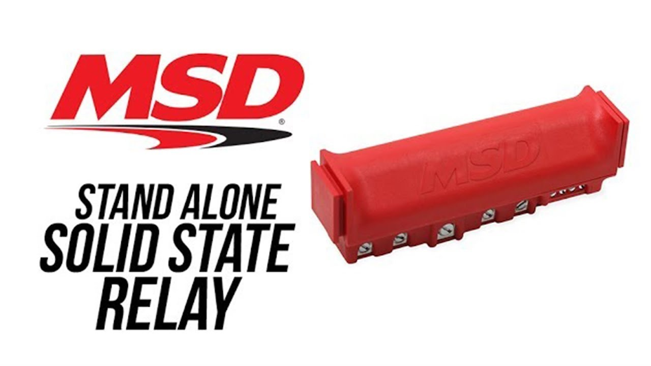 msd solid state relay block msd performance ignition [ 1280 x 720 Pixel ]