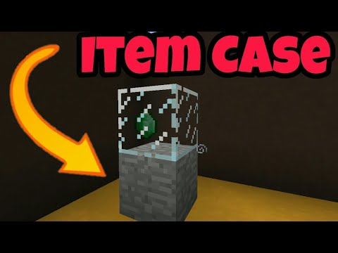 How To Make A Item Display Case In Minecraft.