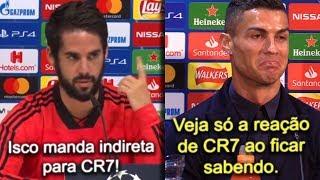 Isco manda indireta para Cristiano Ronaldo e craque responde