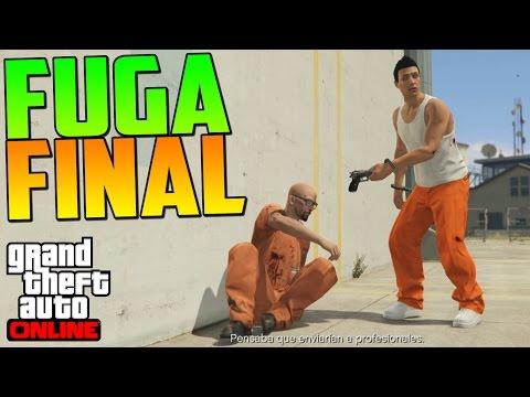 LA FUGA DE LA PRISIÓN COMPLETADA - ATRACOS A BANCOS GTA V ONLINE PS4 - Fuga Prisión #2 - GTA 5