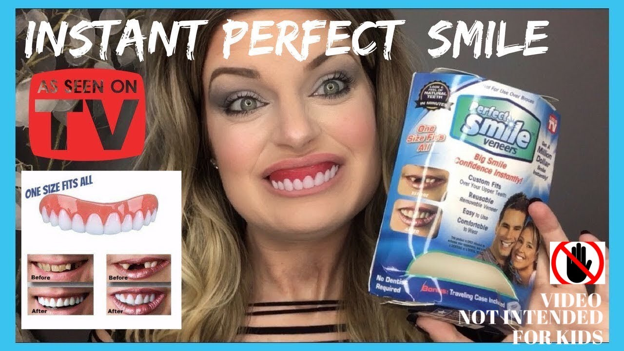 perfect instant smile press on veneers demo amp review youtube