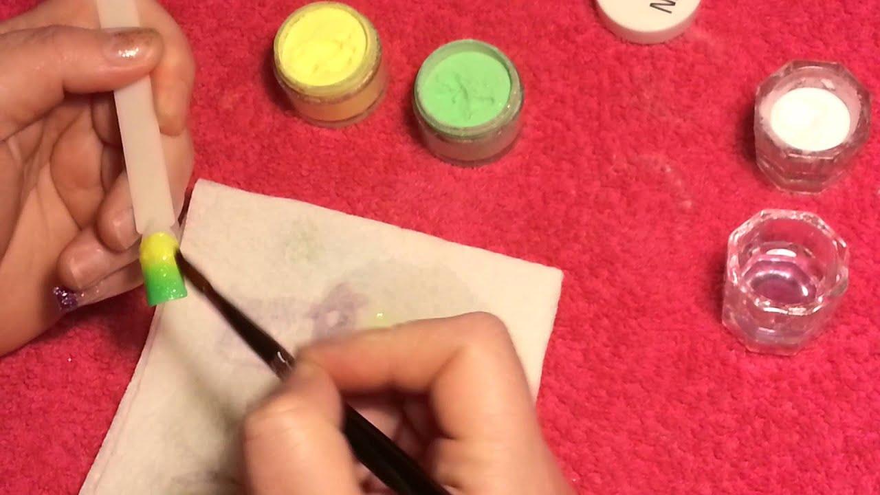 How I Do An Acrylic Colour Blend/Fade - YouTube