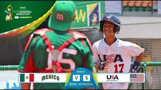 Highlights: Mexico v USA - Super Round - WBSC U-12 Baseball World Cup 2017