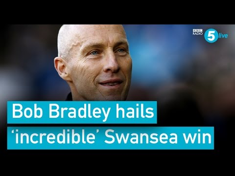 Swansea boss Bradley on 'incredible' win v Palace